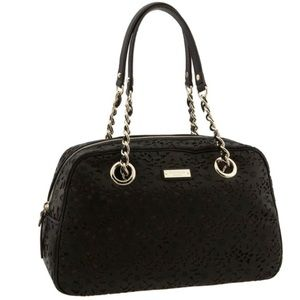 Kate Spade Black Garden Grove Suzy Large Satchel